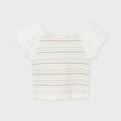 Тениска с цветни райета за момиче-тийн серия