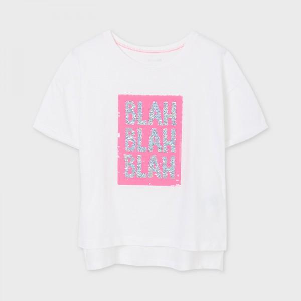 Тениска BLAH с пайети за момиче-тийн серия