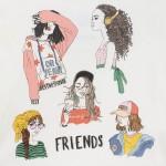 Тениска с момичета за момиче-тийн серия