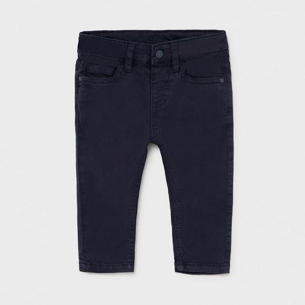 Дълъг панталон от туил slim fit за бебе момче