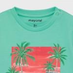 Тениска с колело от памук Ecofriends за бебе момче
