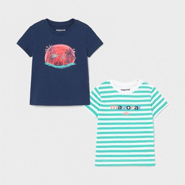 Комплект от 2 тениски палми  за бебе момче
