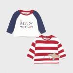 Комплект от две блузи за новородено момче