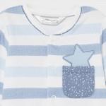 Комплект от 2 гащеризона със звездички за новородено момче