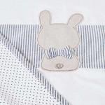 Пелена с бродерия зайче за бебе