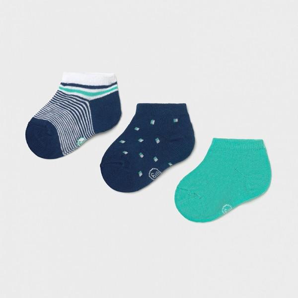 Комплект от 3 чифта къси чорапи за бебе момче