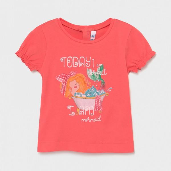 Тениска Ecofriends с набрани ръкави за бебе момиче