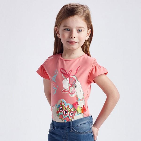 Тениска Ecofriends с весел принт за момиче
