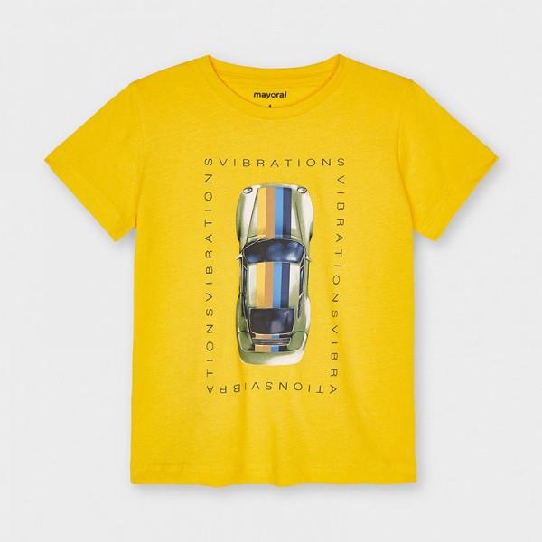 Тениска с кола от устойчив памук