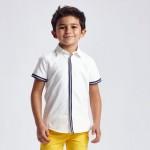 Риза с къс ръкав и ленти за момче
