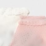 Комплект от 2 чифта чорапи за новородено момиче
