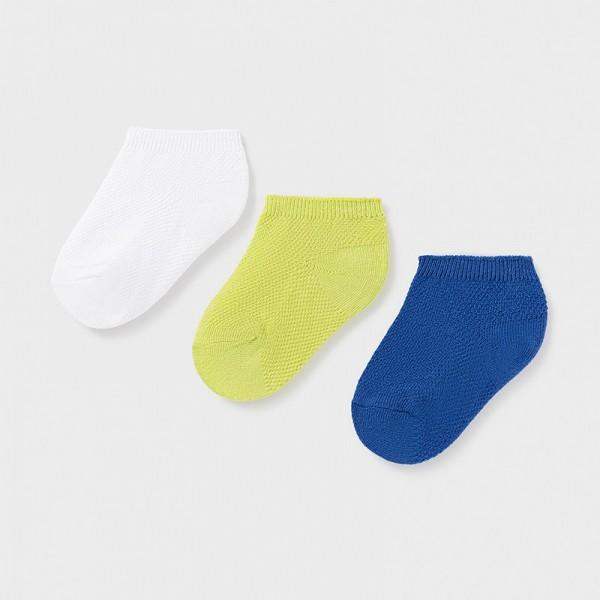Комплект от 3 чифта чорапи тип терлик за бебе момче
