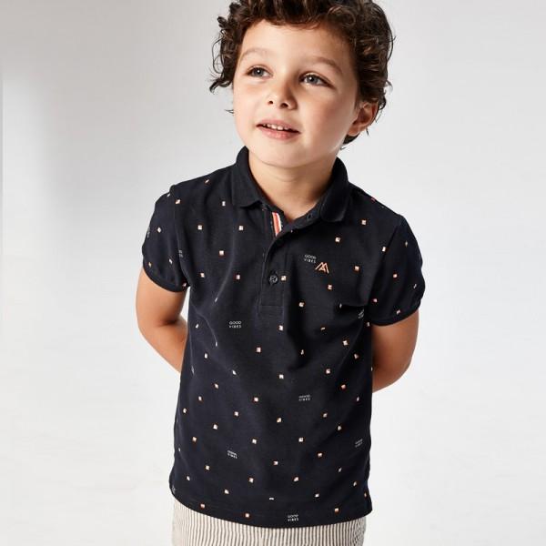 Поло тениска с щампа за момче