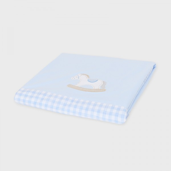 Пелена с контрастни подгъви за бебе
