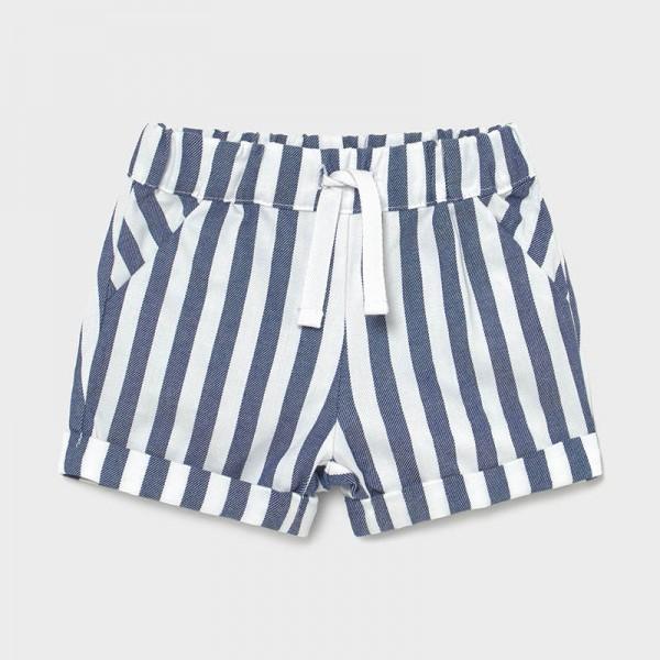 Къс панталон фантазия райе за новородено момче