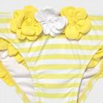 Комплект от 2 броя бански с флорална щампа за бебе момиче