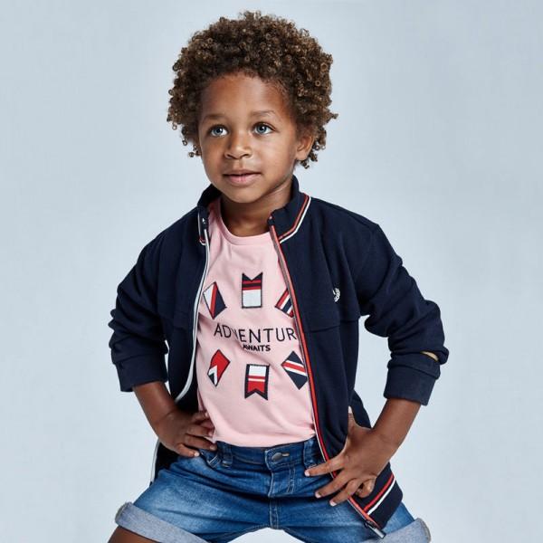 Тениска ECOFRIENDS със знамена  за момче