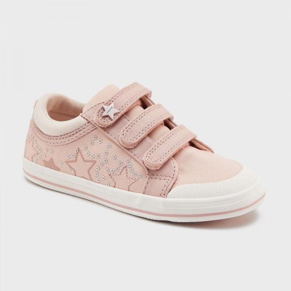 Текстилни обувки от плат на звезди за момиче
