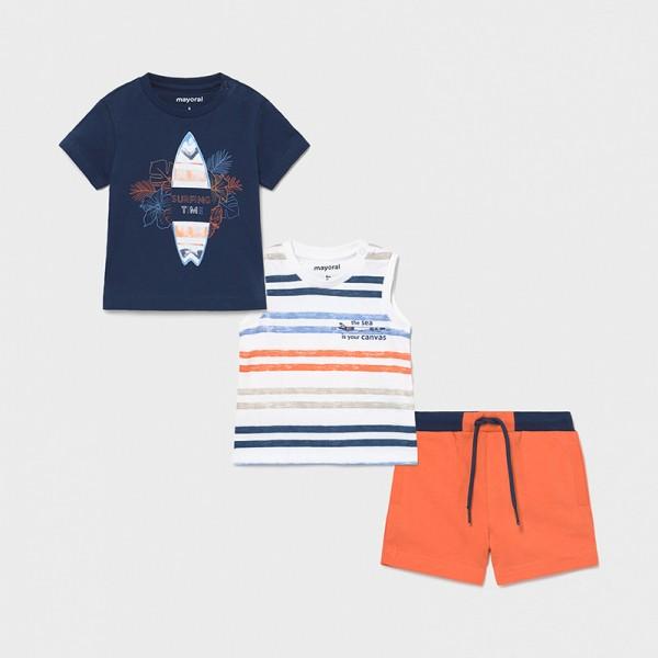 Трикотажен комплект със сърф за бебе момче