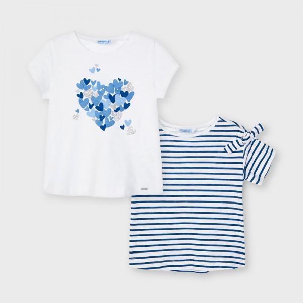 Комплект от 2 тениски с къс ръкав за момиче