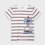 Тениска на райета Ecofriends за момче