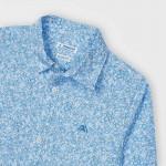Риза с дълъг ръкав и микро щампа
