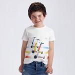 Тениска с принт скутери за момче