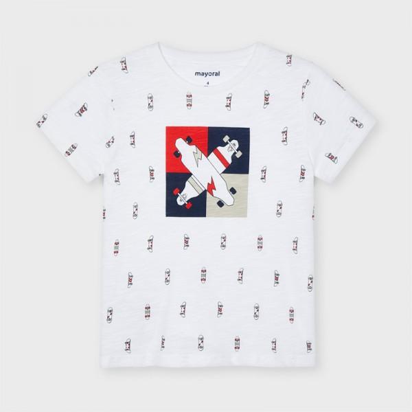 Тениска ECOFRIENDS с щампа скейт за момче