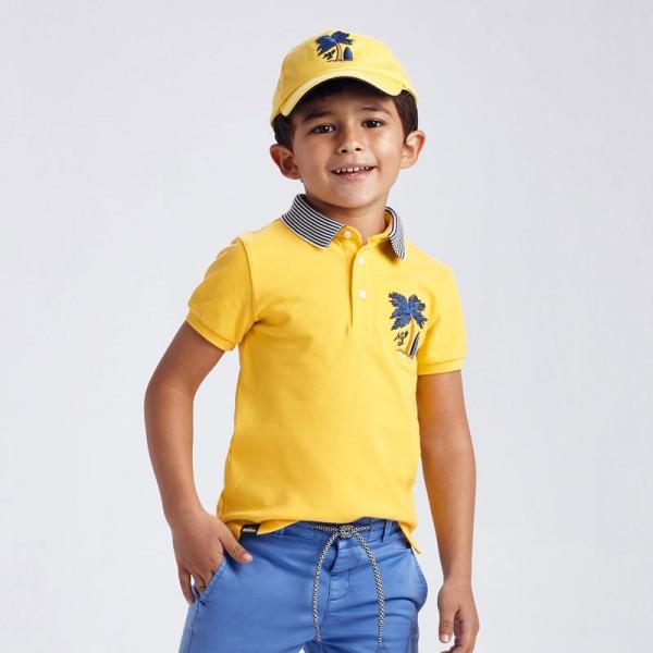 Поло тениска с палма за момче