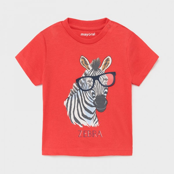Тениска зебра с интерактивна щампа за бебе момче