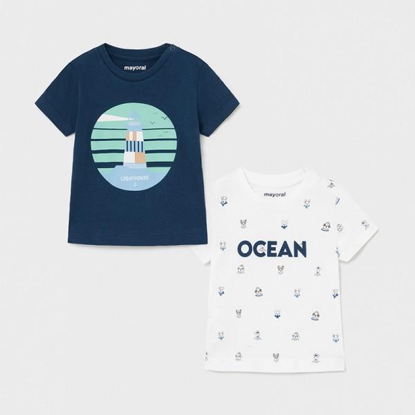 Комплект от 2 тениски OCEAN за бебе момче