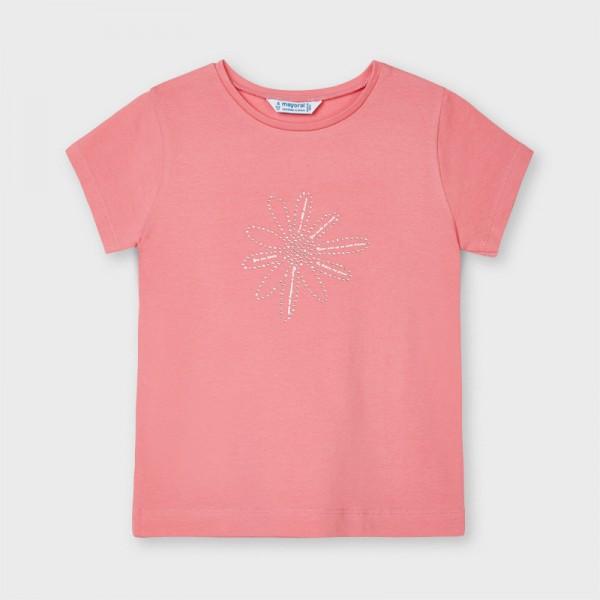 Тениска Ecofriends с цветенце за момиче