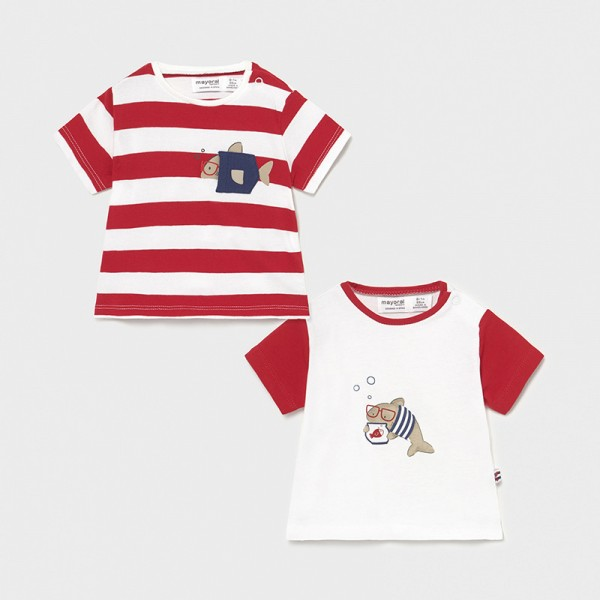 Комплект от 2 тениски с къс ръкав