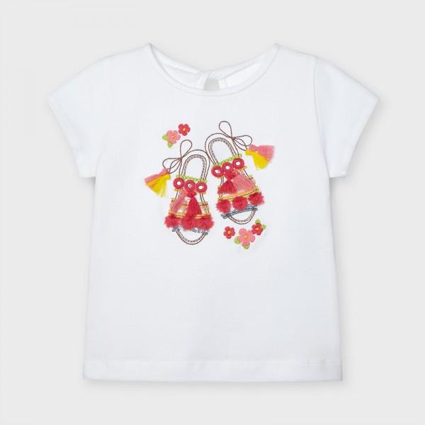 Тениска с къс ръкав и рисунка сандали