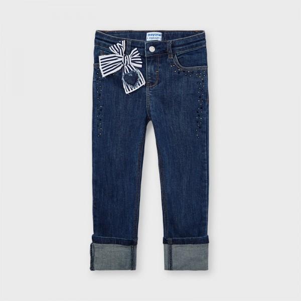 Панталон тип седем осми с панделка