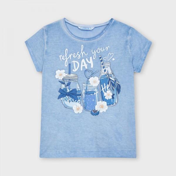 Тениска с къс ръкав за момиче