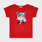 Тениска Ecofriends с апликация очила за момиче