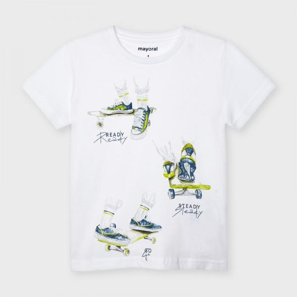 """Тениска  """"ready """"с къс ръкав за момче"""