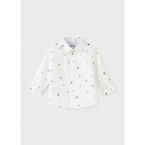 Риза ECOFRIENDS с щампа и дълъг ръкав за бебе момче
