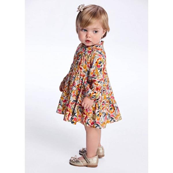 Рокля с цветна щампа за бебе момиче