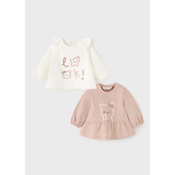 Комплект блузи с мечета за новородено момиче