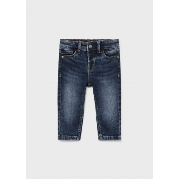 Дълъг дънков панталон slim fit за бебе момче