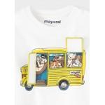 Блуза с принт автобус  PLAY WITH  за бебе момче