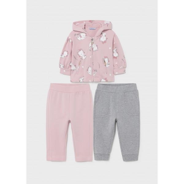Спортен комплект котета ECOFRIENDS с 2 панталона за бебе момиче