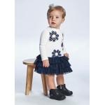 Комбинирана рокля цветя от тюл за бебе момиче