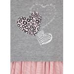 Комбинирана рокля с тюл и блуза със сърца