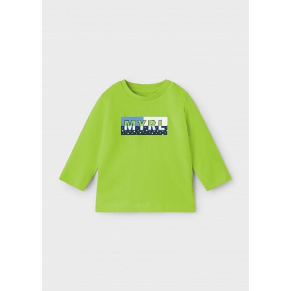 Блуза ECOFRIENDS с лого за бебе момче
