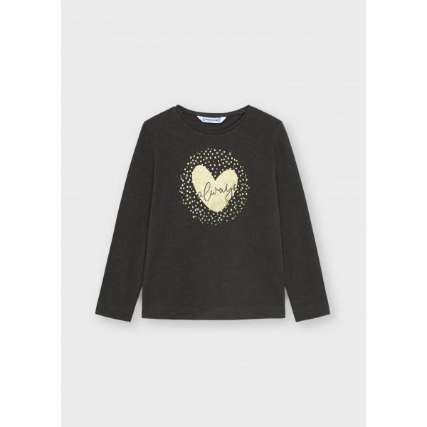 Основна тениска ECOFRIENDS с дълъг ръкав за момиче
