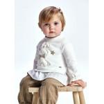 Ватирана блузка със зайче за бебе момиче
