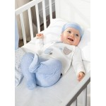 Комплект звездички с ританки и шапка за новородено момче